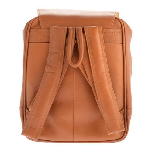 Piel Leather Flap-Over Tablet Backpack 2996 Saddle Leather