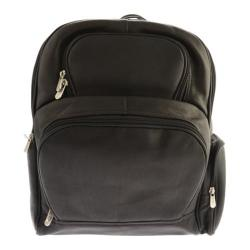 Piel Leather Half-Moon Laptop Backpack 2992 Black Leather