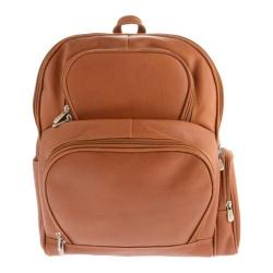 Piel Leather Half-Moon Laptop Backpack 2992 Saddle Leather