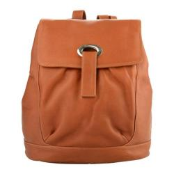 Piel Leather Large Oval Loop Backpack 3020 Saddle Leather