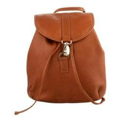 Piel Leather Medium Drawstring Backpack 3019 Saddle Leather