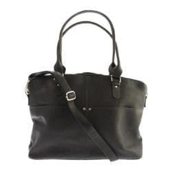 Women's Piel Leather Slim Executive Computer Case 3013 Black Leather