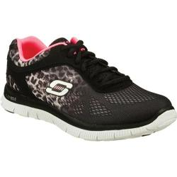 Women's Skechers Flex Appeal Serengeti Black/Gray