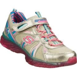 Girls' Skechers S Lights Glitzies Spark Upz Silver/Multi