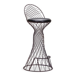 Spindle Black Rusted Metal Bar Chair