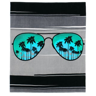 Aviator Sunglasses Beach Towel-for-Two