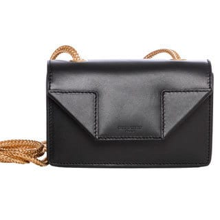 Saint Laurent Mini 'Betty' Black Leather Crossbody Bag