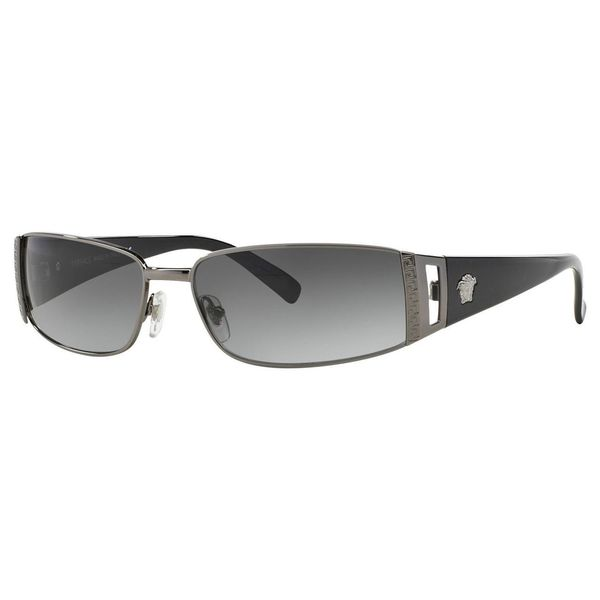 Versace Unisex 'VE 2021 1001/11' Pewter/Grey Gradient Lens Sunglasses