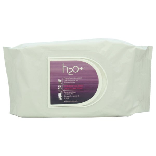H2O+ Aqualibrium Face Cleansing 45 count Wipes