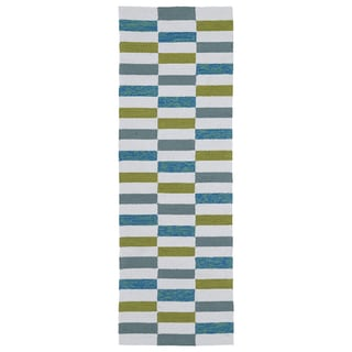 Indoor/Outdoor Luau Ivory Stripes Rug (2' x 6')