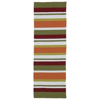 Indoor/Outdoor Luau Multi Stripes Rug (2' x 6')
