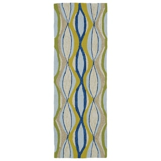 Indoor/Outdoor Fiesta Waves Multi Rug (2' x 6')