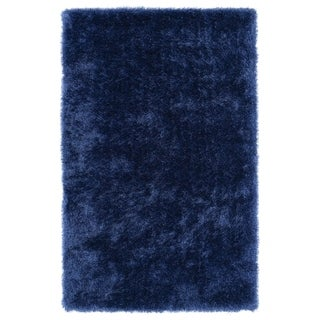 Hand-Tufted Silky Shag Denim Rug (8' x 10')