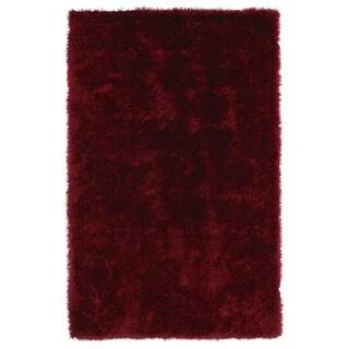 Hand-Tufted Silky Shag Brick Rug (3' x 5')