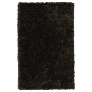 Hand-Tufted Silky Shag Chocolate Rug (2'3 x 8')