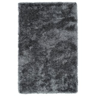 Hand-Tufted Silky Shag Grey Rug (5' x 7')