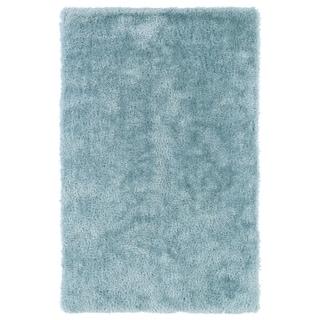 Hand-Tufted Silky Shag Light Blue Rug (5' x 7')
