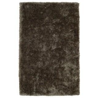Hand-Tufted Silky Shag Light Brown Rug (2' x 3')