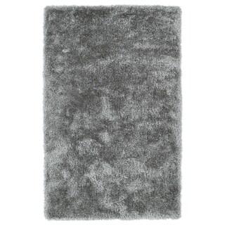 Hand-Tufted Silky Shag Silver Rug (5' x 7')