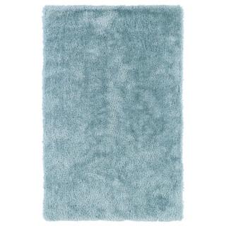 Hand-Tufted Silky Shag Light Blue Rug (9' x 12')