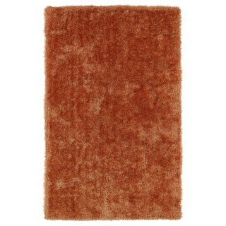 Hand-Tufted Silky Shag Orange Rug (9' x 12')