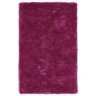 Hand-Tufted Silky Shag Pink Rug (9' x 12')