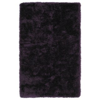 Hand-Tufted Silky Shag Purple Rug (5' x 7')