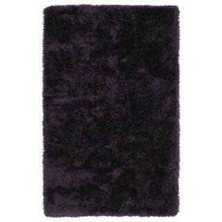 Hand-Tufted Silky Shag Purple Rug (8' x 10')