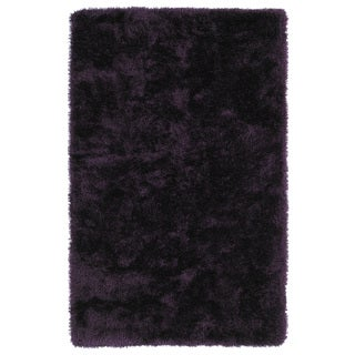 Hand-Tufted Silky Shag Purple Rug (9' x 12')