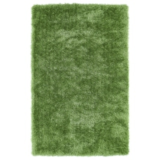 Hand-Tufted Silky Shag Lime Green Rug (5' x 7')