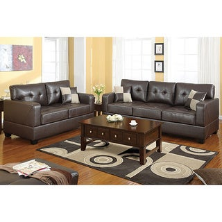 Versailles 2 pieces Sofa Set Covered in a Bonded Leather