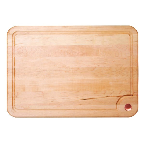 Monogrammed maple cutting board with handles