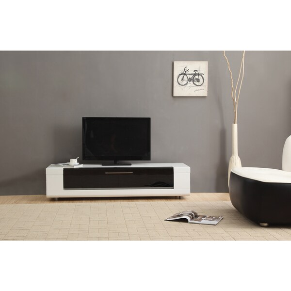 Roma Remix Mini IR-remote Compatible White Modern TV Stand