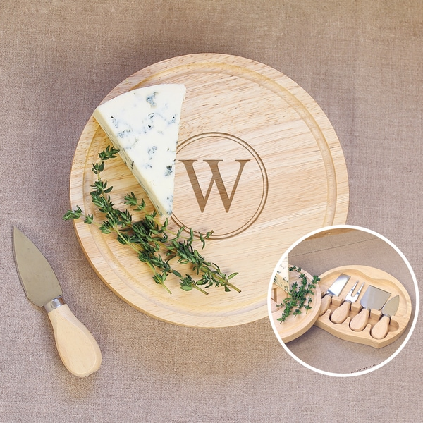 Personalized Gourmet 5-piece Cheese Board Set