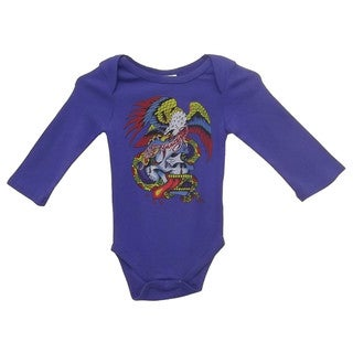 Ed Hardy Boys' Long Sleeve Bodysuit in Blue