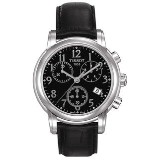 Tissot Women's Dressport Black Chronograph Watch