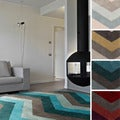 Hand-tufted Chevron Geometric Contemporary Round Area Rug (8' Round)
