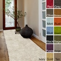 Hand-woven Kylie New Zealand Felted Wool Shag Area Rug (4' x 10')