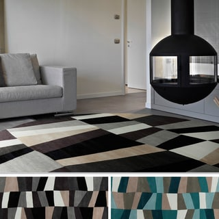 Hand-Tufted Geometric Contemporary Round Area Rug-(8' Round)