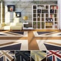 Hand-tufted Union Jack Novelty Contemporary Accent Rug (2' x 3')