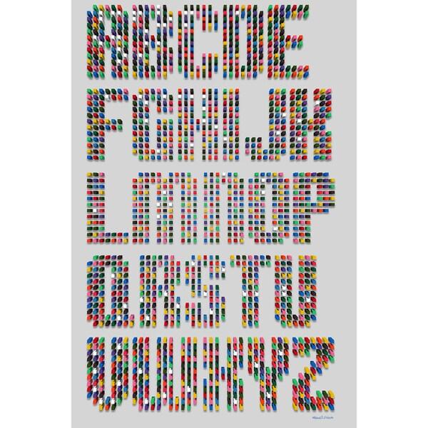 Maxwell Dickson 'Alphabet Dots' Modern Canvas Wall Art