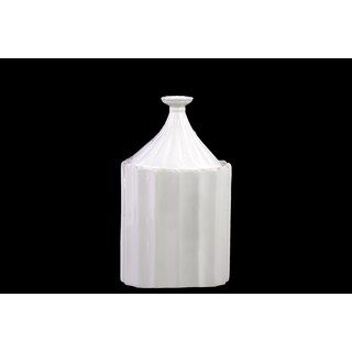Ceramic Canister White Small