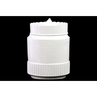 Ceramic Canister White Large