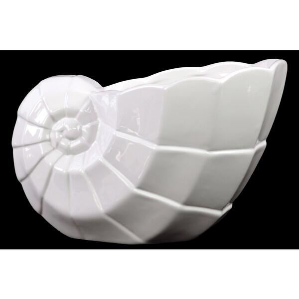 Ceramic Seashell Flower Pot