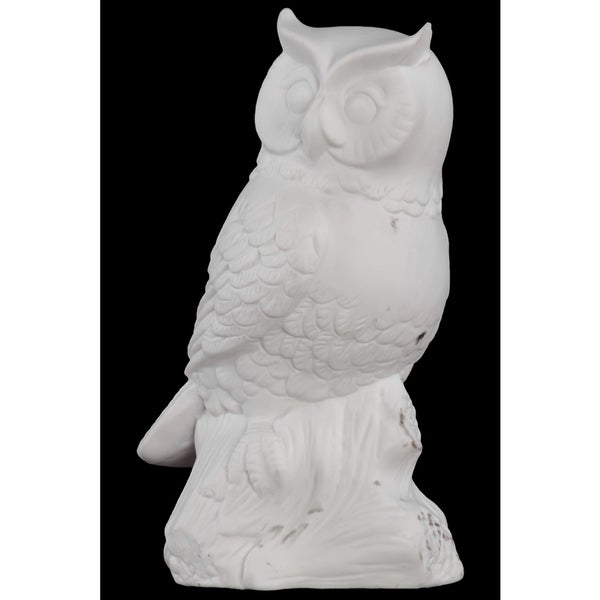 Porcelain Owl White Small