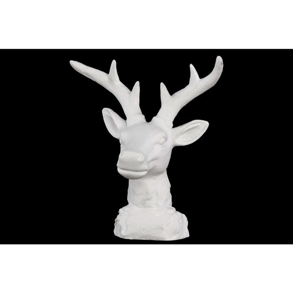 porcelain deer head table top white 16247346