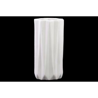 Ceramic Vase Matte White Large
