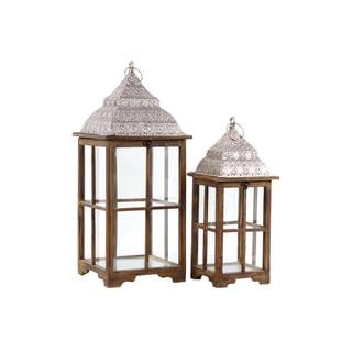 Wooden Lanterns Set of Two