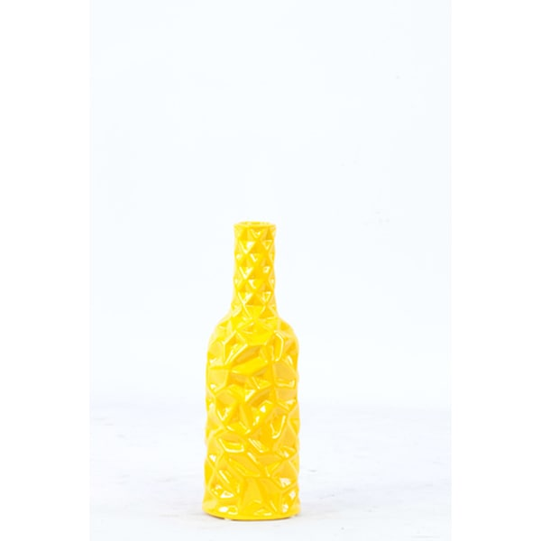 "Ceramic Vase Yellow 12""H"