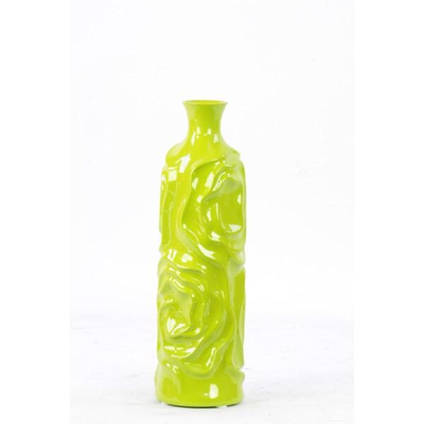 """Ceramic Vase Green 16""""H"""